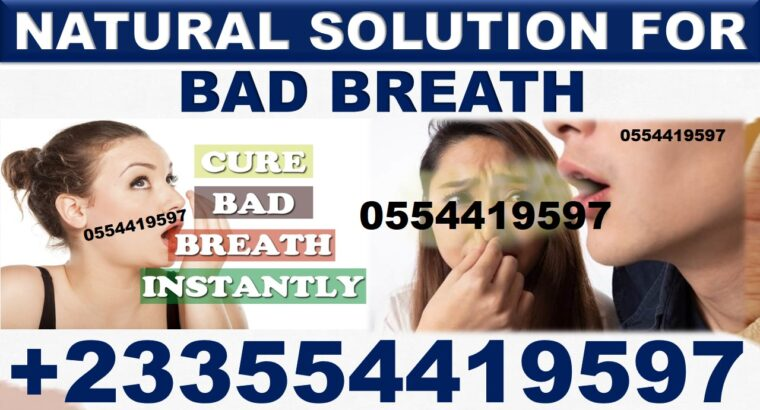 NATURAL TREATMENT FOR BAD BREATH