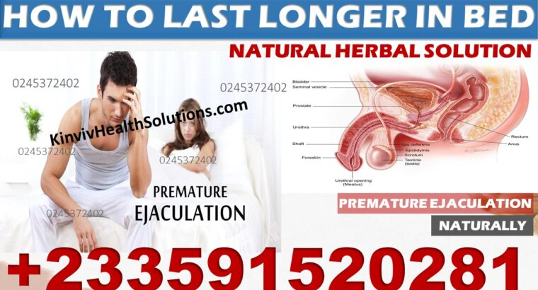 NATURAL REMEDY FOR SEXUAL WEAKNESS IN GHANA